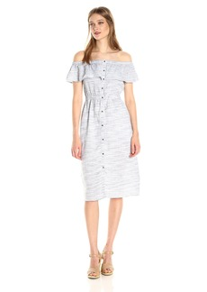 Lucky Brand Women's Off the Shoulder Midi Dress
