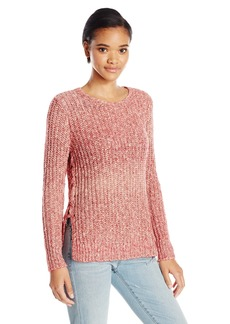 Lucky Brand Women's Omber Lace Up Pullover Sweater