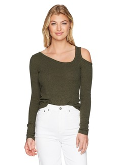 Lucky Brand Women's One Cold Shoulder Top  L