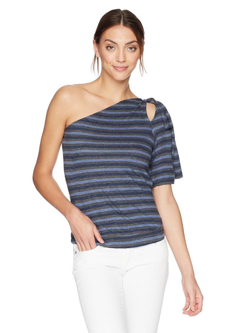Lucky Brand Women's One Shoulder Stripe Top  S