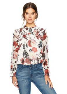 Lucky Brand Women's Open Floral Print Top