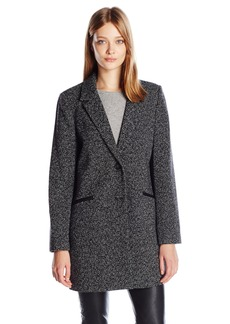 Lucky Brand Women's Oversized Lightweight Wool Coat  L
