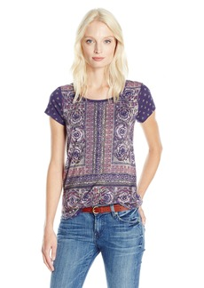 Lucky Brand Women's Painted Border Tee