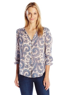 Lucky Brand Women's Paisley Button Front Blouse