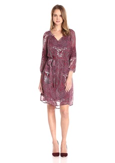 Lucky Brand Women's Red Paisley Dress