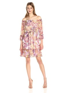 Lucky Brand Women's Palm Print Dress