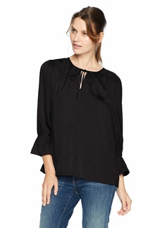 Lucky Brand Women's Parachute Peasant TOP  S