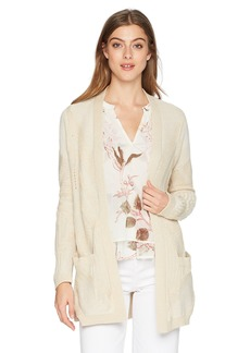 Lucky Brand Women's Patterned Cardigan Sweater  L