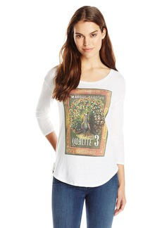 Lucky Brand Women's Peacock Stamp Tee