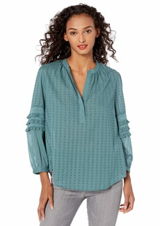 Lucky Brand Women's Peasant TOP  XL