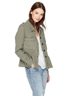 Lucky Brand Women's Peplum Utility Jacket  L