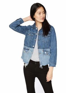 Lucky Brand Women's Pieced Waisted Trucker Jacket BOLGART S
