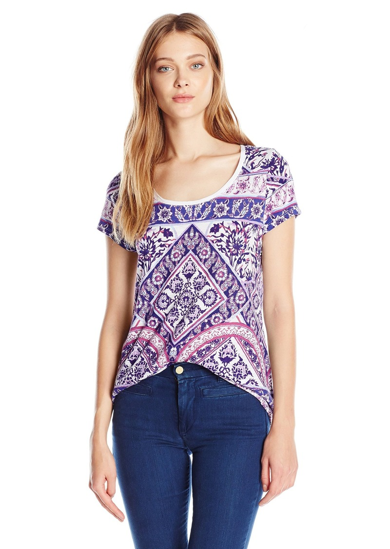 Lucky Brand Women's Placed Rug T-Shirt