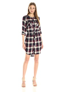Lucky Brand Women's Plaid Button Front Dress