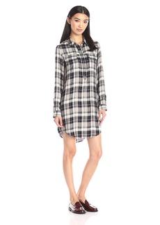 Lucky Brand Women's Plaid Henley Shirt Dress