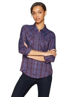 Lucky Brand Women's Plaid Shirt in Blue Multi M