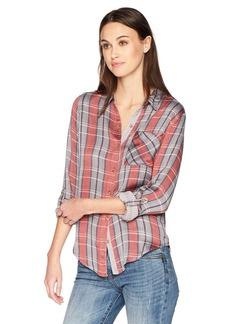 Lucky Brand Women's Plaid Shirt  XL