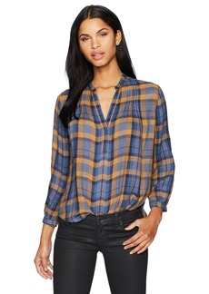 Lucky Brand Women's Plaid Top  S