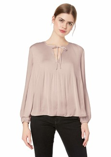 Lucky Brand Women's Pleated Peasant TOP  L