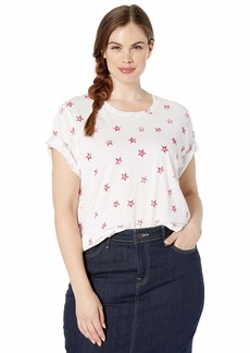 Lucky Brand Women's Plus Size All Over Stars TEE