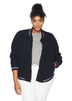 Lucky Brand Women's Plus Size ANAELISA Sherpa Bomber Jacket