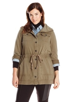 Lucky Brand Women's Plus Size Ashlyn Military Jacket