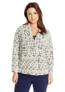 Lucky Brand Women's Plus-Size Aztec Active Jacket  1x