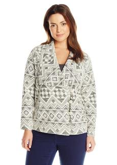 Lucky Brand Women's Plus-Size Aztec Active Jacket  2x