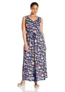 Lucky Brand Women's Plus Size Batik Floral Dress  2X