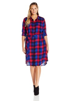 Lucky Brand Women's Plus Size Bungalow Plaid Dress  1X