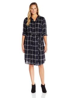 Lucky Brand Women's Plus Size Bungalow Plaid Dress  1X