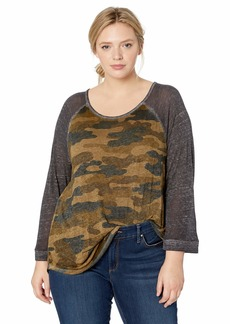 Lucky Brand Women's Plus Size CAMO TEE