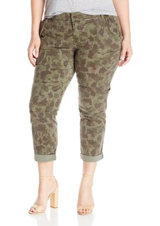 Lucky Brand Women's Plus Size Mid Rise Cargo Jean In