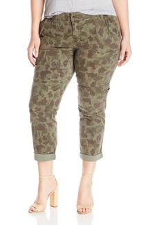 Lucky Brand Women's Plus Size Mid Rise Cargo Jean In
