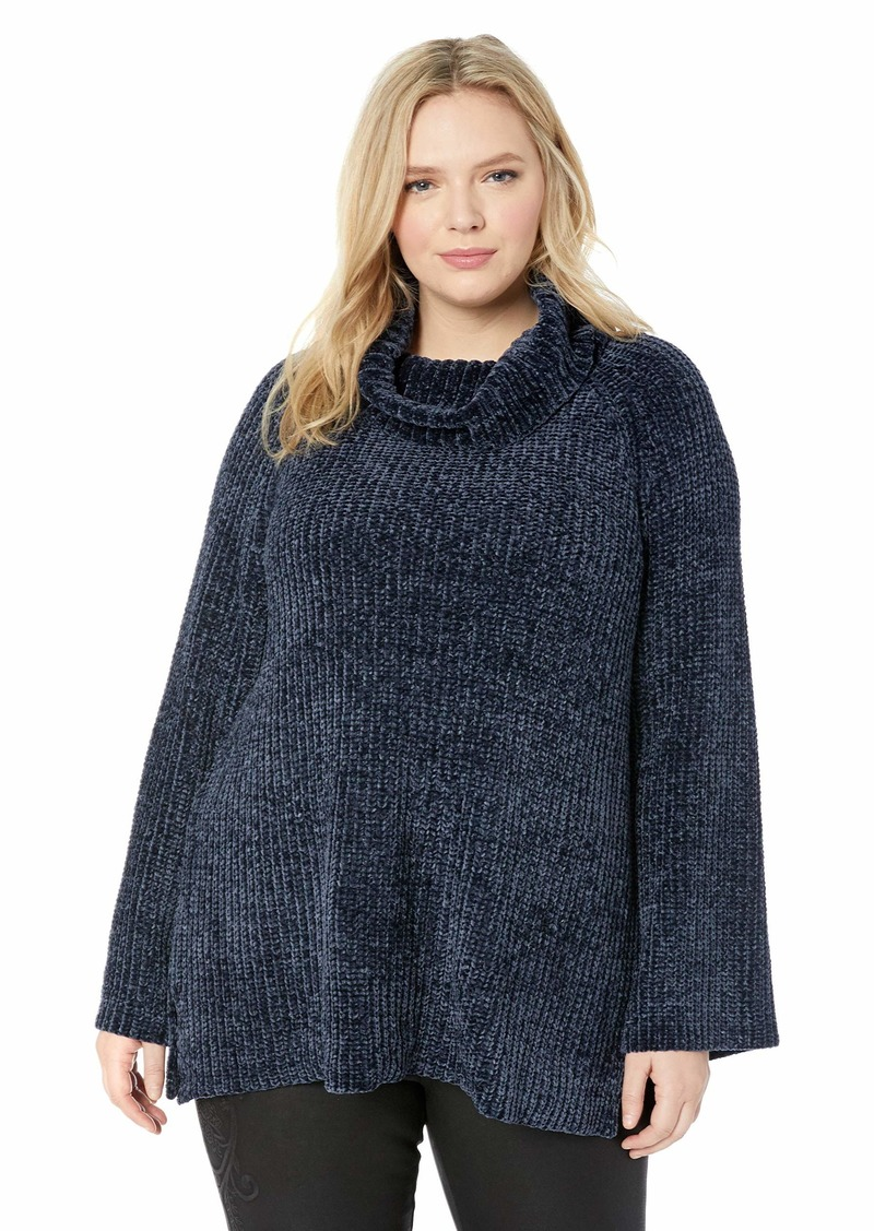 Lucky Brand Women's Plus Size Chenille Cowl Neck Sweater