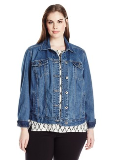 Lucky Brand Women's Plus Size Classic Trucker Jacket