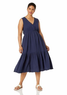 Lucky Brand Women's Plus Size Cotton Gauze Dress  3X