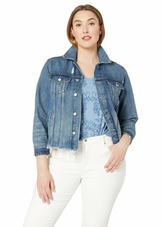 Lucky Brand Women's Plus Size Denim Tomboy Trucker Jacket