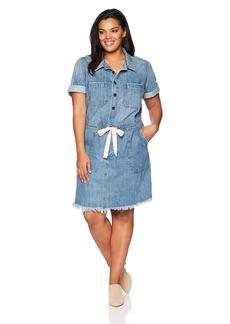 Lucky Brand Women's Plus Size Drawstring Dress  1X