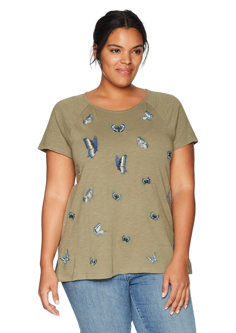 56c48043d79 Lucky Brand Lucky Brand Women s Plus Size Embroidered Butterfly ...