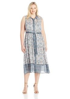 Lucky Brand Women's Plus Size Faux Wrap Maxi Dress  1X