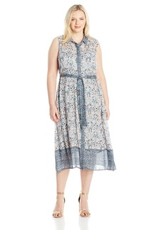 Lucky Brand Women's Plus Size Faux Wrap Maxi Dress  3X