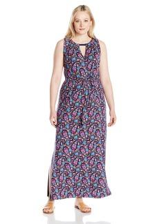 Lucky Brand Women's Plus Size Floral Print Long Dress  2X