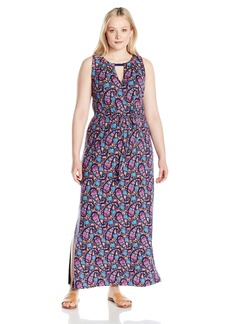 Lucky Brand Women's Plus Size Floral Print Long Dress  3X