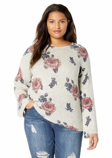 Lucky Brand Women's Plus Size Floral Pullover Sweater