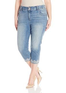 Lucky Brand Women's Plus Size High Rise Emma Crop Jean