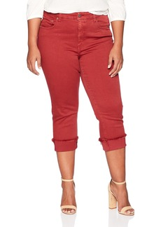 Lucky Brand Women's Plus Size High Rise Emma Crop Jean In LA Cara LA Caramel