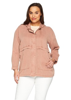 Lucky Brand Women's Plus Size Hooded Jacket