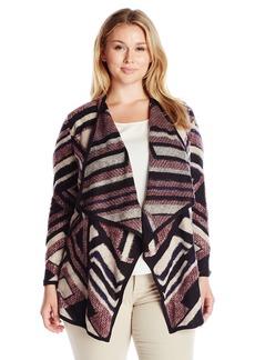 Lucky Brand Women's Plus Size Intarsia Cardigan