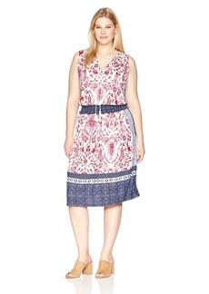 Lucky Brand Women's Plus Size Kerry Knit Dress  2X